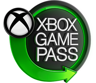 Xbox Game Pass logo with group of game characters